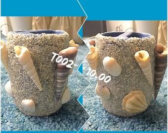 Handmade Sea Shell Toothbrush Holder