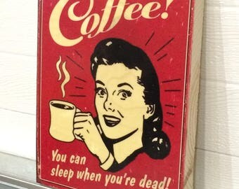 VINTAGE COFFEE SIGN Wall Art Decor