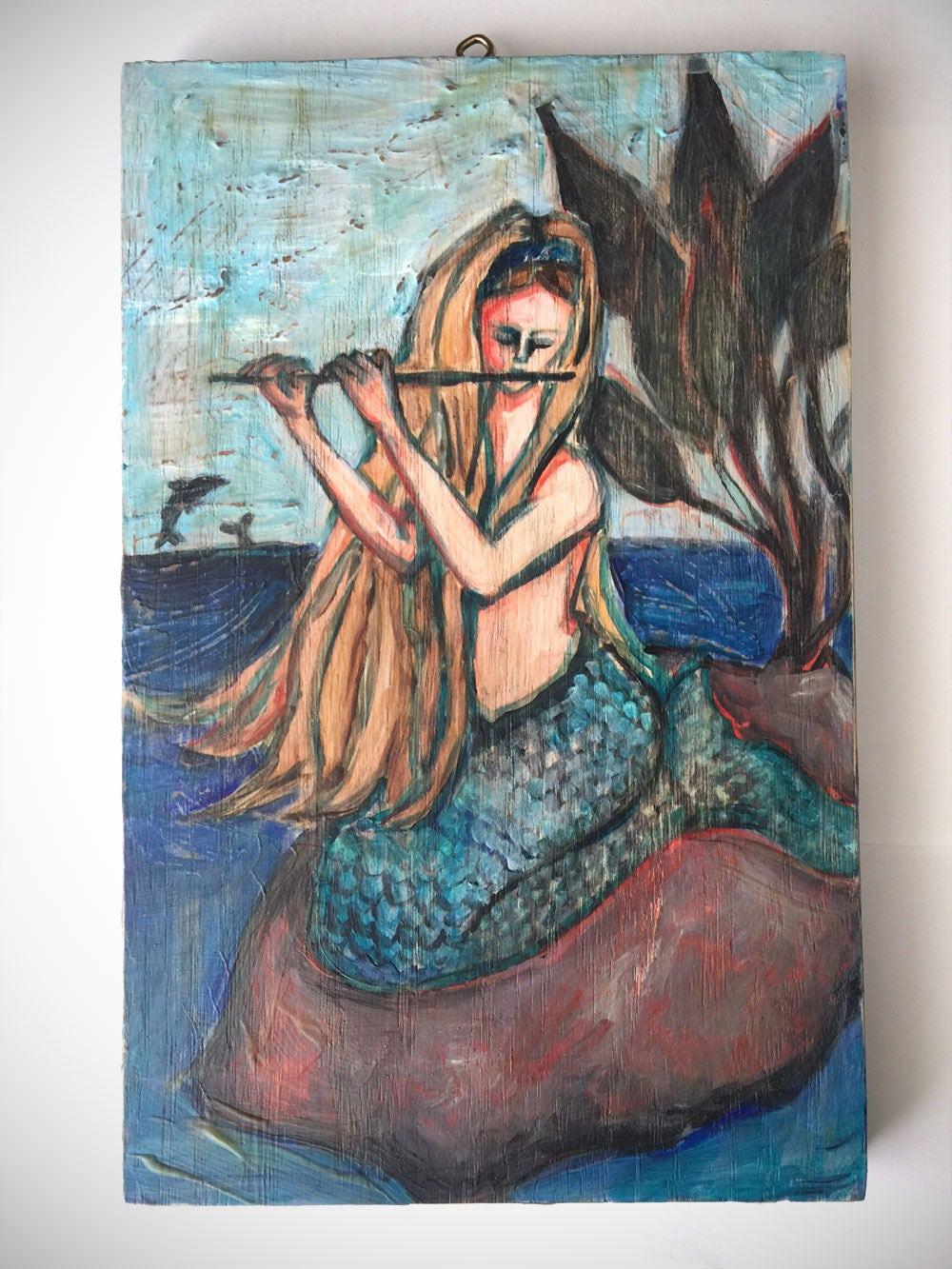 Mermaid Wall Art Home Decor Shabby Chic Wall Hook