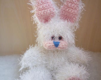 25 cm White Rabbit Knitted Soft Toy
