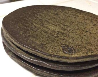 Small Brown Clay Plates