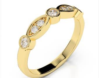 0.33ctw. Diamond Wedding Band 14k Yellow Gold
