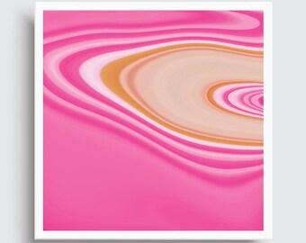 PINK SAND | Abstract Art Print