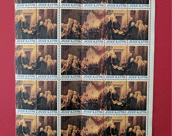 Declaration of Independence 13 cent Bicentennial US Postage Stamp