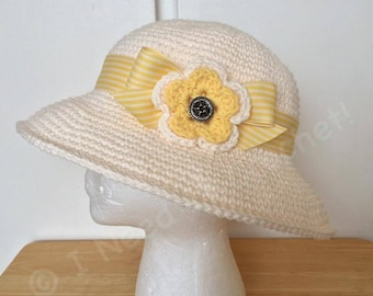 Sun Hat Womens, Sun Hat, Crochet Summer Hat, Women's Beach Hat, Mothers Gift, Brim Hat, Gift For Her, Mom Gift, Hat With Ribbon, Gift