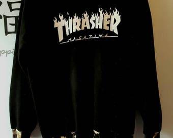 Thrasher uniquely bleached sweatshirt