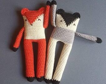 Mini blankie flat long legs - soft and cuddly plush handmade: gift, child, toys, handmade