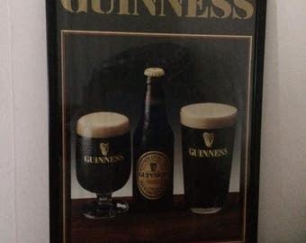 1970s Original Guinness Brewery framed marketing/promotional poster