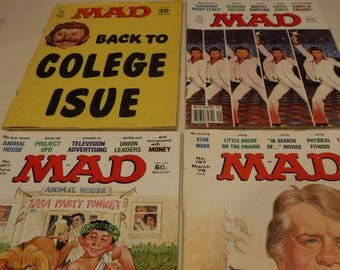 MAD Magazines, set of 4, Dec. 1969 plus 3 1978-79 issues humor comics