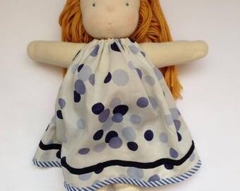 Waldorf inspired doll - Rudzik