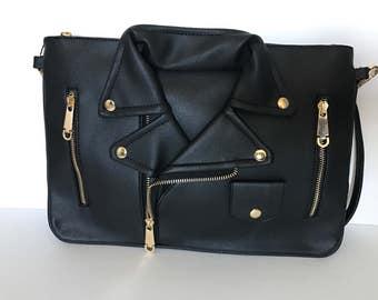 Moto jacket handbag