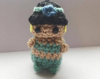 Princess Jasmine Amigurumi, Disney Princess, crocheted