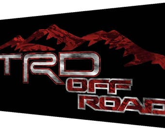 TRD Off Road Mountain Decals 6X13 Toyota Tundra Tacoma 4X4 SPORT STICKERS V11 TH1