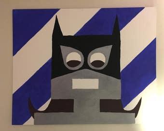 "Bat Bot, 8"" x 10"" Batwoman Robot Acrylic painting on Canvas"