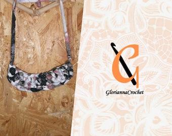 ANNA - statement bib crochet necklace jewelry