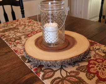 Natural Floral Table Runner