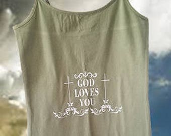 God Loves you Tank Top