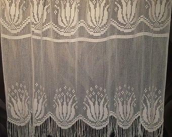 Cotton Crochet Handmade Curtain