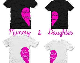 Mummy And Daughter Matching T Shirt Set - You Stole My Heart