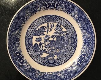 Set of 12 Blue Willow Dessert Plates