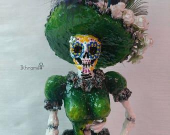 Statue figure Catrina Cartonnage Mexicana