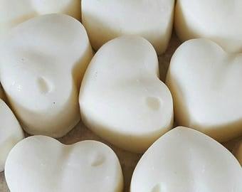 50 Scented wax melts, Lemongrass & Ginger heart shaped melts, soy wax melts, soy wax tarts, birthday gift, home fragrance, wedding favours