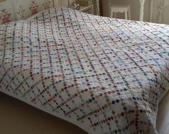 Bedspread has squares