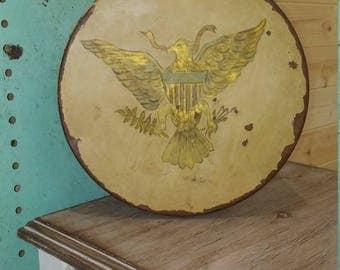 Patriot Vintage Eagle Tin USA