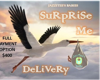 Sale…Save 75.00 and Free Shipping - New Customer Promotion - SURPRISE ME DELIVERY By JazziTee's Babies - Full Payment Option - Made to Order