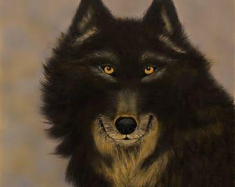 Wolf Art, Wolf Art Print, Wolf Print, Animal Art, Animal Print, Wildlife Art, Wolf Face,Wolf Picture, Lone Wolf, Grey Wolf, Wolf Decor, Wolf