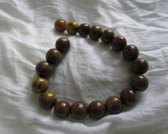Polymer clay beads Brown