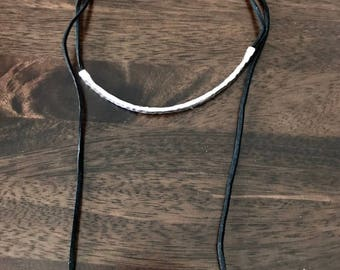 Necklace lariat leather