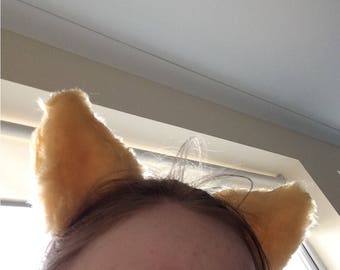 Custom made one colour fursuit ears