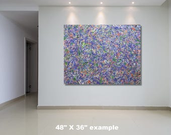"36"" x 72"" XX-large abstract painting"
