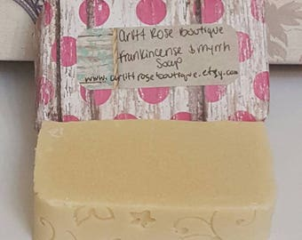 frankincense and myrrh soap bar