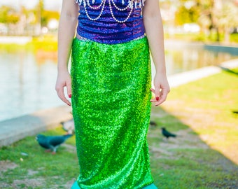 Little mermaid costume. Halloween costumes.