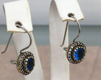 Ottoman Style Handmade Silver Earrings