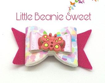 Handmade hair accessories - Bernice double butterfly bow