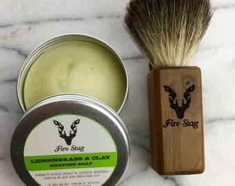 Shaving brush & shaving soap