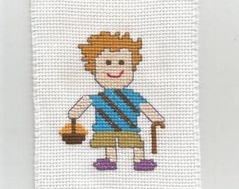 Tony, the gardener boy - Digital pattern, Instant download, Point of croix, Punto cruz,  Embroidery pattern - Cross Stitch pattern PDFs