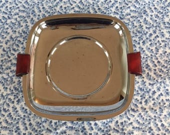 Vintage GloHill Chrome and Bakelite Tray/Stand Glo Hill