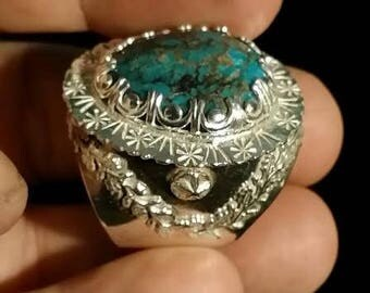 Jewelry, silver, Turquoise, metallic turquoise.