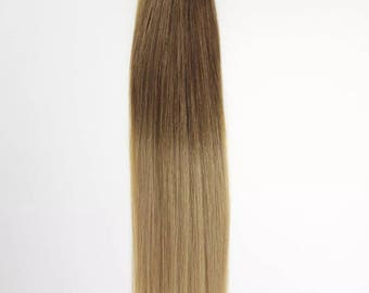 """Micro ring ombré with rings  I tip double drawn 7A grade remy 1 .gram , 100g hair extensions 20"""""""