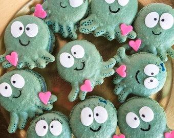 Half Dozen Octopus Macarons