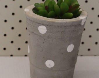 Cement pot, succulent, planter, home decor, cement.