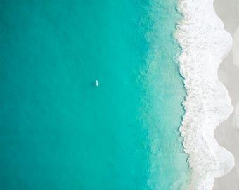 Wall Art | Aerial Photography | Print | Beach | Seascape | Leighton Beach | Western Australia | Standup Paddle