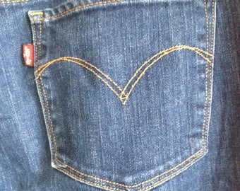 Levis jeans denim flared w29 bootcut vintage