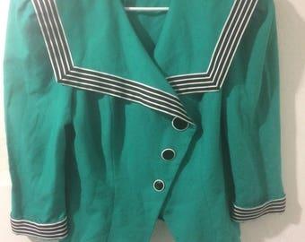 Green vintage blazer women's 11