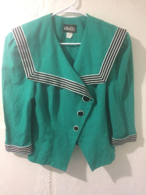 Vintage Retro Clothing- Vintage Streetwear- Cool Styles- Vintage Clothing- Green vintage blazer ...