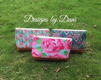 Monogrammed Lilly Inspired Cosmetic Bags